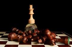 Βασιλιάς σκακιού στη σφαίρα Στοκ φωτογραφίες με δικαίωμα ελεύθερης χρήσης