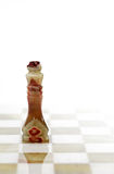Βασιλιάς σκακιού στο λευκό Στοκ εικόνα με δικαίωμα ελεύθερης χρήσης