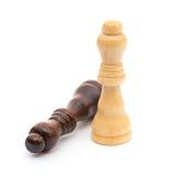 Βασιλιάς σκακιού στο λευκό Στοκ φωτογραφία με δικαίωμα ελεύθερης χρήσης