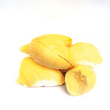 Βασιλιάς των φρούτων, durian στο άσπρο υπόβαθρο Στοκ Εικόνες