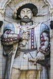 Βασιλιάς Henry VIII γλυπτό Στοκ φωτογραφίες με δικαίωμα ελεύθερης χρήσης