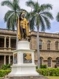 Βασιλιάς Kamehameha Ι άγαλμα, iolani του Ali υγιές στοκ φωτογραφία