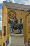 Βασιλιάς Ludwig I, Ρέγκενσμπουργκ, Γερμανία αγαλμάτων στοκ εικόνα