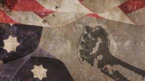 βασιλιάς luther Martin ημέρας Σκυρόδεμα αμερικανικών σημαιών Στοκ φωτογραφία με δικαίωμα ελεύθερης χρήσης