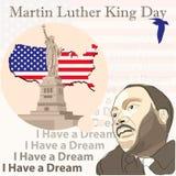 βασιλιάς luther Martin ημέρας διανυσματική απεικόνιση