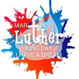 βασιλιάς luther Martin ημέρας Στοκ φωτογραφία με δικαίωμα ελεύθερης χρήσης