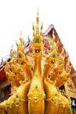 Βασιλιάς Nagas στον ταϊλανδικό ναό στοκ εικόνες