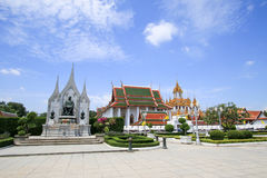 Βασιλιάς Rama 1 άγαλμα Phra Phutthayotfa Chulalok Rattanakosin Στοκ Φωτογραφία