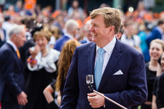 Βασιλιάς Willem-Αλέξανδρος των Κάτω Χωρών, βασιλιάς ` s ημέρα 2014, Amstelveen, οι Κάτω Χώρες Στοκ φωτογραφία με δικαίωμα ελεύθερης χρήσης