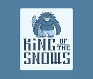 Βασιλιάς Yeti του χιονιού Στοκ Φωτογραφίες