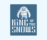 Βασιλιάς Yeti των χιονιών Στοκ Φωτογραφίες