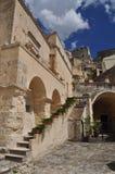 Βασιλικάτα Ιταλία $matera Η παλαιά πόλη Sassi, παραδοσιακή αρχιτεκτονική Στοκ Φωτογραφίες