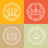 Βασιλικά λογότυπα καθορισμένα Στοκ Εικόνα