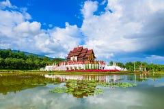 Βασιλικά περίπτερο & x28 Ho Kham Luang& x29  στο βασιλικό πάρκο Rajapruek στοκ φωτογραφία