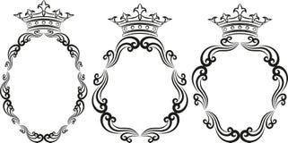 Βασιλικά πλαίσια Στοκ Εικόνες