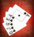 Κάρτες με τη βασιλική λάμψη στοκ εικόνες με δικαίωμα ελεύθερης χρήσης