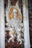 Βασιλική Αγίου Peter σε Βατικανό - εσωτερικό της διάσημης εκκλησίας Στοκ φωτογραφία με δικαίωμα ελεύθερης χρήσης