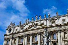 Βασιλική Αγίου Peter σε Βατικανό Στοκ Εικόνες