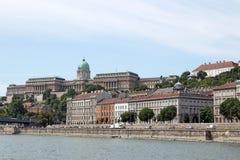 Βασιλική εικονική παράσταση πόλης της Βουδαπέστης κάστρων Στοκ Εικόνες