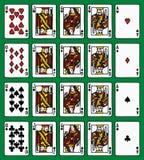 Βασιλική εκροή τεσσάρων πόκερ Στοκ Φωτογραφίες