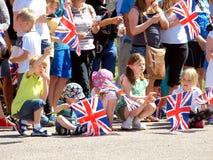 Βασιλική επίσκεψη, Derbyshire, UK Στοκ Εικόνα