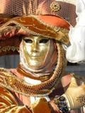 Βασιλική μάσκα, καρναβάλι της Βενετίας Στοκ Φωτογραφίες