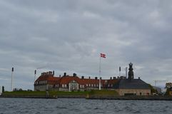 Βασιλική ναυτική βάση στην Κοπεγχάγη Στοκ εικόνα με δικαίωμα ελεύθερης χρήσης