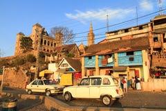 Βασιλική οδός Antananarivo παλατιών Στοκ εικόνα με δικαίωμα ελεύθερης χρήσης