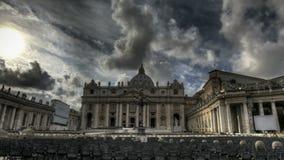 Βασιλική Ρώμη του ST Peters απόθεμα βίντεο