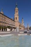 Βασιλική Σαραγόσα στην Ισπανία Στοκ φωτογραφία με δικαίωμα ελεύθερης χρήσης