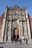 Βασιλική σε Zocalo, Πόλη του Μεξικού Στοκ εικόνα με δικαίωμα ελεύθερης χρήσης