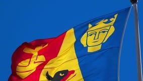 Βασιλική σημαία στη Στοκχόλμη Σουηδία απεικόνιση αποθεμάτων