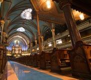 Βασιλική της Notre-Dame (Μόντρεαλ) Στοκ φωτογραφία με δικαίωμα ελεύθερης χρήσης