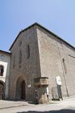 Βασιλική του alla Rocca του ST Francesco. Βιτέρμπο. Λάτσιο. Ιταλία. στοκ εικόνες