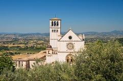 Βασιλική του d'Assisi του ST Francesco. Ουμβρία. Ιταλία. στοκ εικόνες με δικαίωμα ελεύθερης χρήσης
