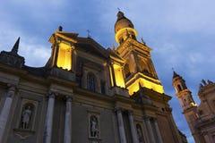 Βασιλική του Saint-Michel Archange, Menton, Γαλλία Στοκ Φωτογραφίες