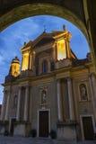 Βασιλική του Saint-Michel Archange, Menton, Γαλλία Στοκ φωτογραφία με δικαίωμα ελεύθερης χρήσης