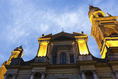 Βασιλική του Saint-Michel Archange, Menton, Γαλλία Στοκ εικόνες με δικαίωμα ελεύθερης χρήσης