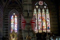 Βασιλική του SAN Francesco, Σιένα, Τοσκάνη, Ιταλία Στοκ Εικόνα