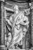 Βασιλική του ST John Lateran - άγαλμα του John Στοκ φωτογραφίες με δικαίωμα ελεύθερης χρήσης