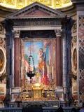 Βασιλική του ST Peter. Εσωτερική άποψη Ιταλία Ρώμη Στοκ εικόνα με δικαίωμα ελεύθερης χρήσης