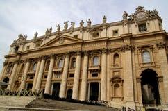 Βασιλική του ST Peter στη πόλη του Βατικανού Στοκ εικόνες με δικαίωμα ελεύθερης χρήσης