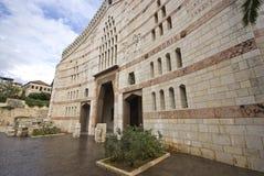 Βασιλική Annunciation στη Ναζαρέτ, Ισραήλ Στοκ Εικόνες