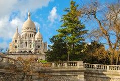 Βασιλική Sacre Coeur Παρίσι, Γαλλία Στοκ Φωτογραφίες