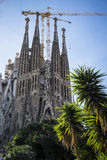 Βασιλική Sagrada Familia από τον αρχιτέκτονα Antoni Gaudi Ba Στοκ Φωτογραφίες