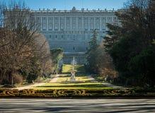 Βασιλικοί κήποι στο παλάτι Στοκ φωτογραφία με δικαίωμα ελεύθερης χρήσης