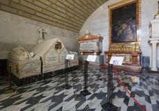 Βασιλικοί τάφοι στο υπόγειο της Royal Palace EL escorial Στοκ Εικόνα