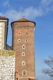 Βασιλικός πύργος γερουσιαστή κάστρων Wawel στην Κρακοβία, Πολωνία Στοκ Φωτογραφίες