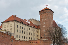 Βασιλικός πύργος γερουσιαστή κάστρων Wawel στην Κρακοβία, Πολωνία Στοκ φωτογραφίες με δικαίωμα ελεύθερης χρήσης