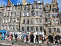 Βασιλικός δρόμος μιλι'ου στο Εδιμβούργο, Σκωτία Στοκ Εικόνες